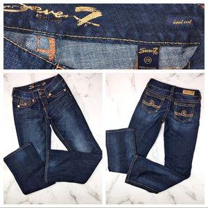 Seven7 Boot Cut Dark Wash Jeans Size 28